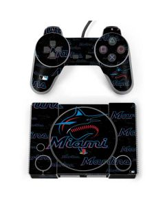 Miami Marlins Cap Logo Blast PlayStation Classic Bundle Skin