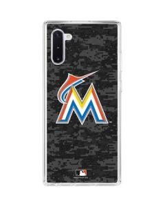 Miami Marlins Digi Camo Galaxy Note 10 Clear Case
