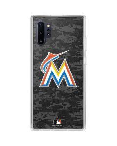 Miami Marlins Digi Camo Galaxy Note 10 Plus Clear Case
