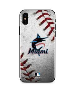 Miami Marlins Game Ball iPhone XS Max Skin