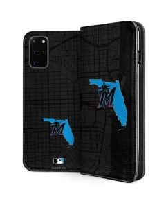 Miami Marlins Home Turf Galaxy S20 Plus Folio Case