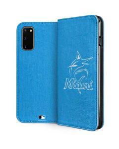 Miami Marlins Monotone Galaxy S20 Folio Case