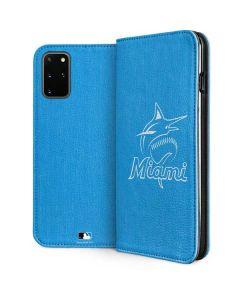 Miami Marlins Monotone Galaxy S20 Plus Folio Case