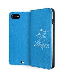 Miami Marlins Monotone iPhone SE Folio Case