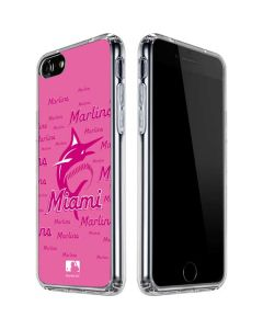 Miami Marlins Pink Blast iPhone SE Clear Case