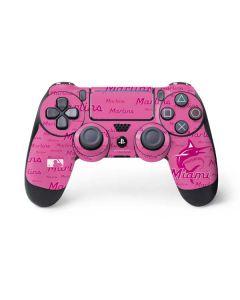 Miami Marlins Pink Blast PS4 Pro/Slim Controller Skin