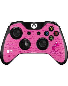 Miami Marlins Pink Blast Xbox One Controller Skin