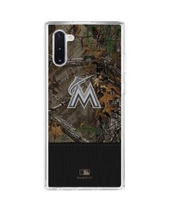 Miami Marlins Realtree Xtra Camo Galaxy Note 10 Clear Case