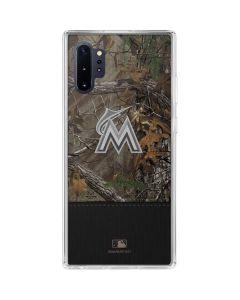Miami Marlins Realtree Xtra Camo Galaxy Note 10 Plus Clear Case