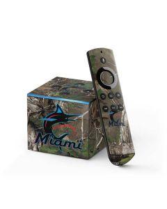Miami Marlins Realtree Xtra Green Camo Fire TV Cube Skin