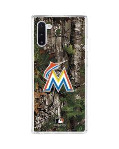 Miami Marlins Realtree Xtra Green Camo Galaxy Note 10 Clear Case