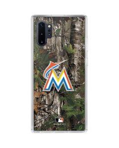 Miami Marlins Realtree Xtra Green Camo Galaxy Note 10 Plus Clear Case