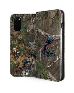 Miami Marlins Realtree Xtra Green Camo Galaxy S20 Folio Case