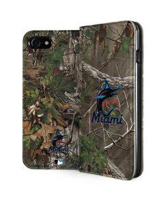 Miami Marlins Realtree Xtra Green Camo iPhone SE Folio Case