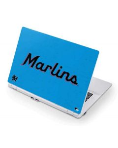 Miami Marlins Solid Distressed Acer Chromebook Skin