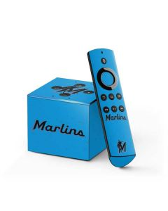 Miami Marlins Solid Distressed Fire TV Cube Skin