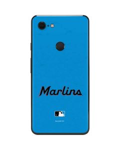 Miami Marlins Solid Distressed Google Pixel 3 XL Skin
