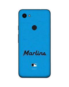 Miami Marlins Solid Distressed Google Pixel 3a Skin