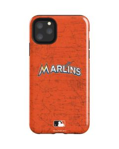 Miami Marlins Solid Distressed iPhone 11 Pro Max Impact Case