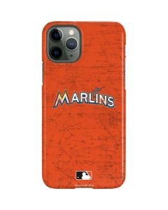 Miami Marlins Solid Distressed iPhone 11 Pro Lite Case