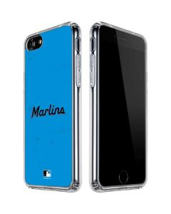 Miami Marlins Solid Distressed iPhone SE Clear Case