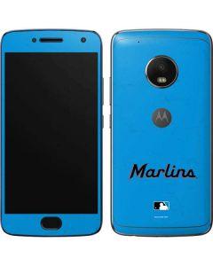 Miami Marlins Solid Distressed Moto G5 Plus Skin