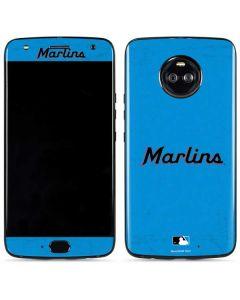 Miami Marlins Solid Distressed Moto X4 Skin
