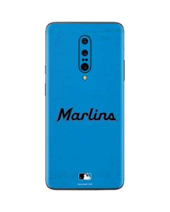 Miami Marlins Solid Distressed OnePlus 7 Pro Skin
