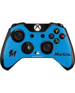 Miami Marlins Solid Distressed Xbox One Controller Skin