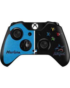 Miami Marlins Split Xbox One Controller Skin
