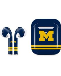 Michigan Logo Striped Apple AirPods 2 Skin