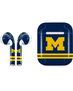 Michigan Logo Striped Apple AirPods Skin