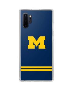 Michigan Logo Striped Galaxy Note 10 Plus Clear Case