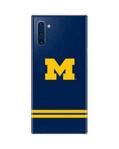 Michigan Logo Striped Galaxy Note 10 Skin