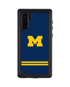Michigan Logo Striped Galaxy Note 10 Waterproof Case