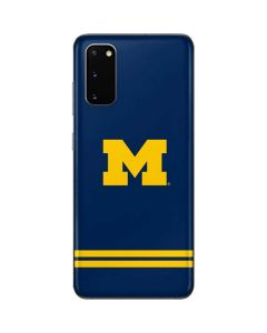 Michigan Logo Striped Galaxy S20 Skin