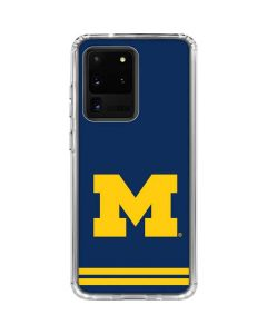 Michigan Logo Striped Galaxy S20 Ultra 5G Clear Case