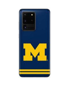 Michigan Logo Striped Galaxy S20 Ultra 5G Skin