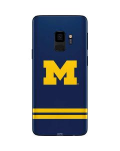 Michigan Logo Striped Galaxy S9 Skin