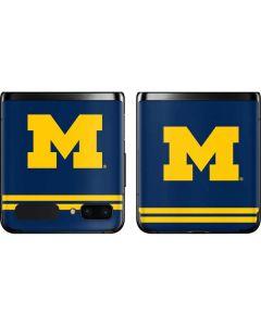 Michigan Logo Striped Galaxy Z Flip Skin