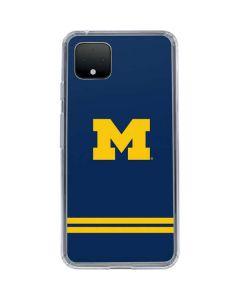 Michigan Logo Striped Google Pixel 4 Clear Case