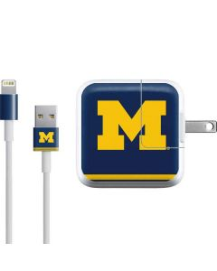 Michigan Logo Striped iPad Charger (10W USB) Skin