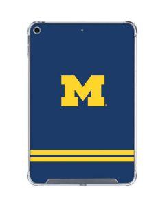 Michigan Logo Striped iPad Mini 5 (2019) Clear Case