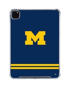 Michigan Logo Striped iPad Pro 11in (2020) Clear Case