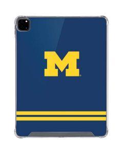 Michigan Logo Striped iPad Pro 12.9in (2020) Clear Case