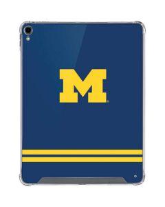 Michigan Logo Striped iPad Pro 12.9in (2018-19) Clear Case