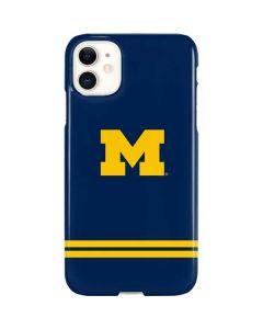 Michigan Logo Striped iPhone 11 Lite Case