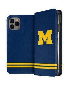 Michigan Logo Striped iPhone 11 Pro Folio Case