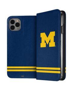 Michigan Logo Striped iPhone 11 Pro Max Folio Case
