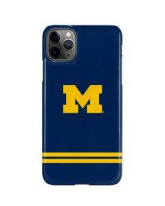 Michigan Logo Striped iPhone 11 Pro Max Lite Case